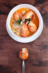 Tom Yum Kung Thai popular menu