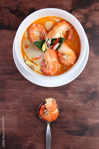 Tom Yum Kung Thai popular menu