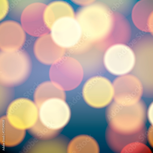 Christmas tree lights background, vector Eps10 illustration.