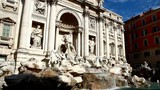 The famous Trevi Fountain in Rome, Italy