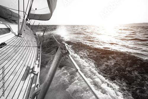 Leinwandbild Motiv Yacht, sailing regatta. Luxury yachts.