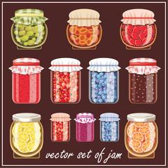 Set of jam.
