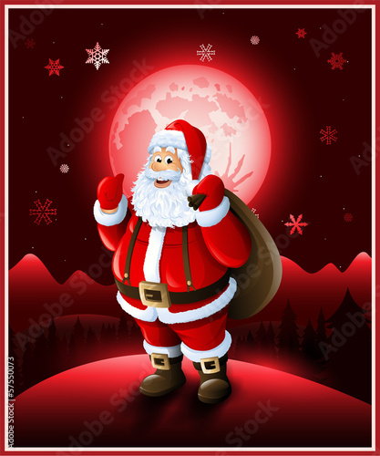 Santa Claus background Christmas greeting card