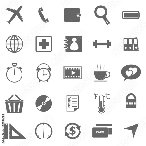 Application icons on white background. Set 2