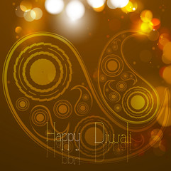 vector creative paisley diwali background