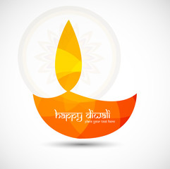Illuminated tradition diwali lamp vector background