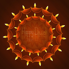 Beautiful vector background diwali colorful card illustration