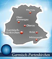 Inselkarte von Garmisch-Partenkirchen