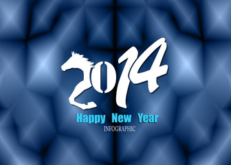 Creative Happy New Year 2014. Infographic Calendars. Vector