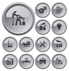 Industrial button set