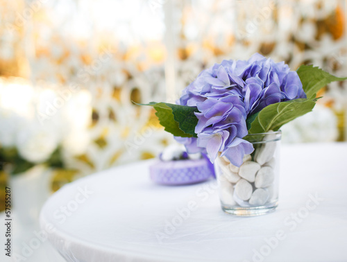 Wedding decoration on table.