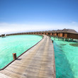 water Villa on piles .maldives
