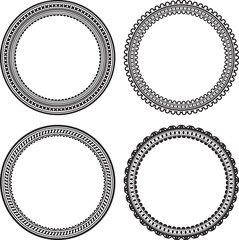 Set of 4 round frames