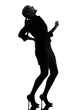 business woman backache pain silhouette