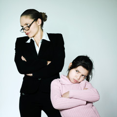 woman child conflict dipute problems