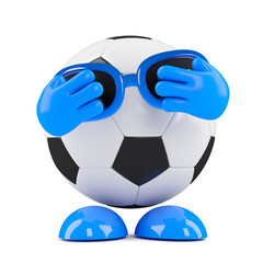 3d Football hides his face