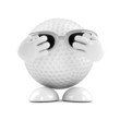 Golf ball hide his face