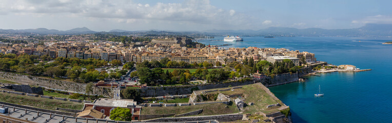 View on Corfu town