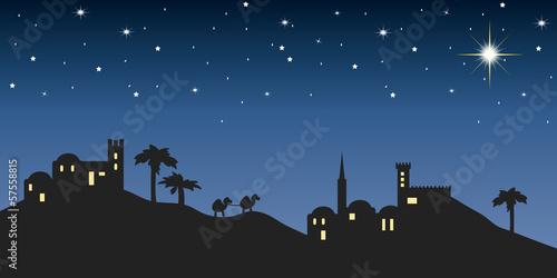 Fototapeta background night bethlehem