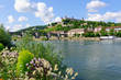 The Marienberg fortress and the Old Main Bridge in Würzburg, Ger