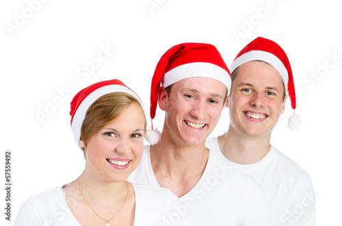 fröhliche weihnachtsmänner