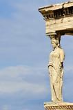 Caryatid sculpture, Acropolis of Athens, Greece poster