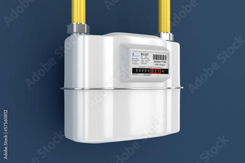 Leinwandbild Motiv Gas meter