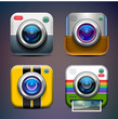 Photo camera icon set.