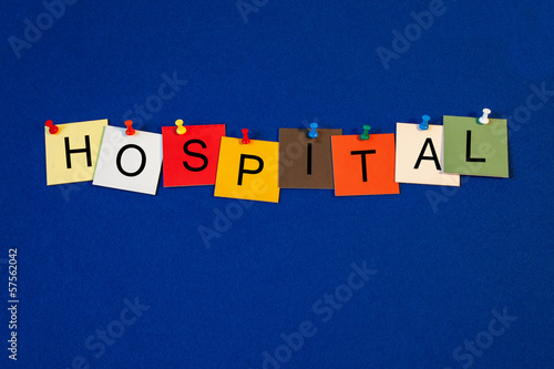 Hospital - sign for medical health care