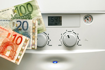 house heating boiler and euro money