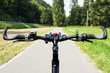 View over the bicycle handlebar