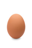 egg on white isolated background