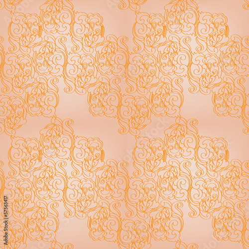 vector seamless gold ornamental background