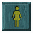 Women toilet, wooden sign