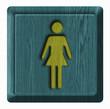 Women toilet, wooden sign