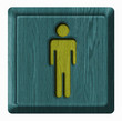 Men toilet wooden sign
