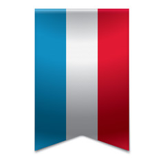 Ribbon banner - flag of luxembourg