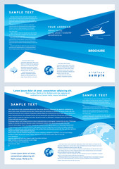 brochure airplane flight tickets air fly cloud sky blue travel