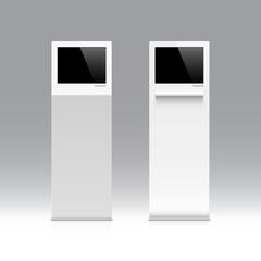 Freestanding information kiosk, terminal, stand