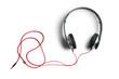Leinwanddruck Bild - headphones on white background