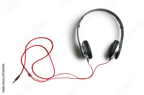 Leinwanddruck Bild headphones on white background