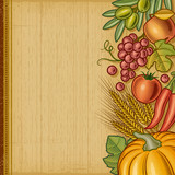 Retro harvest background