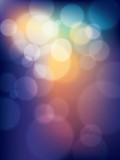 colorful vibrant abstract Vector Bokeh Background