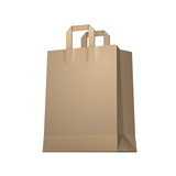 Carrier Paper Shopping Bag Brown Empty EPS10