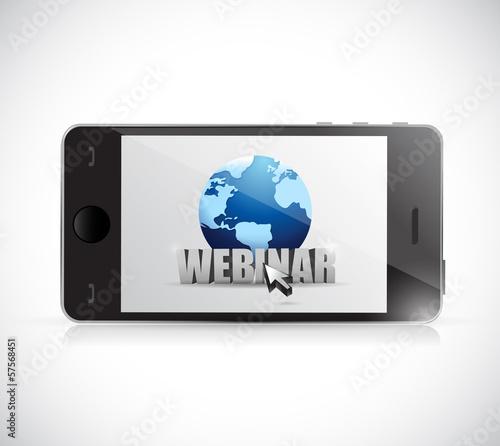 phone and webinar sign illustration design