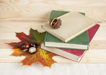 Back to college autumn old books