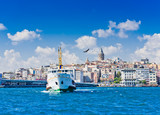 Cityscape with Galata Tower over the Golden Horn in Istanbul