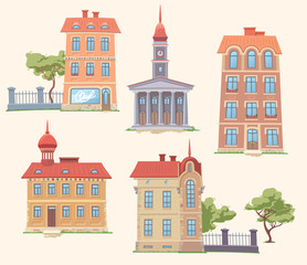 Classic Vector Buildings Set
