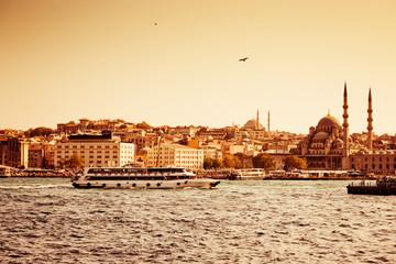 Passenger ships in Istanbul, Turkey