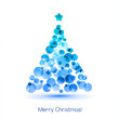 Vector Merry christmas tree background